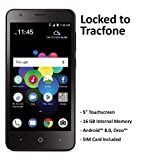 TracFone Carrier-Locked ZTE Blade T2 Lite 4G LTE Prepaid Smartphone - Black - 16GB - Sim Card Included - CDMA