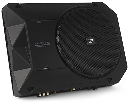 JBL BassPro SL 8-inch 125W RMS Powered Under-Seat Compact Subwoofer Enclosure System (250 watts RMS: 125 watts)