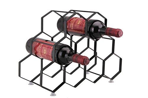 Kitchenista Portabottiglie da vino da 9 bottiglie Stand - Portabottiglie in piedi - Design unico...