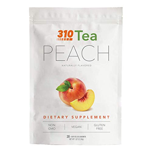 Peach Tea by 310 Nutrition - Supports Body's Natural Detox Process, Organic Green Tea with Yerba Mate, Guarana, Plus More Natural Ingredients, Comes with Free eBook (28 Servings) 1