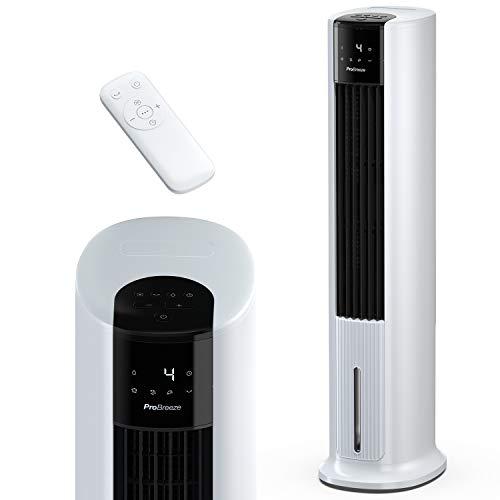 Pro Breeze Rafraîchisseur d'Air Colonne 3 en 1, 7L avec 7 Vitesses, 3 modes de fonctionnement, Oscillant, Affichage numérique, Minuterie de 10h - Refroidisseur par évaporation & ventilateur Tour
