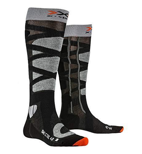 X-Socks Ski Control 4.0, Calzini Unisex-Adulto, Anthracite Mel/Stone Grey Mel, 42-44