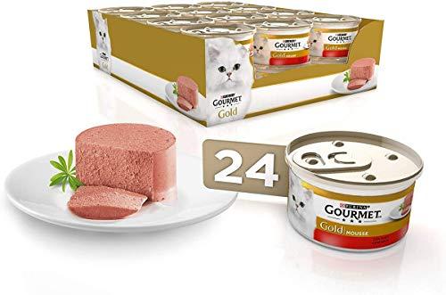 Purina Gourmet Gold Mousse comida para gatos con Buey 24 x 8