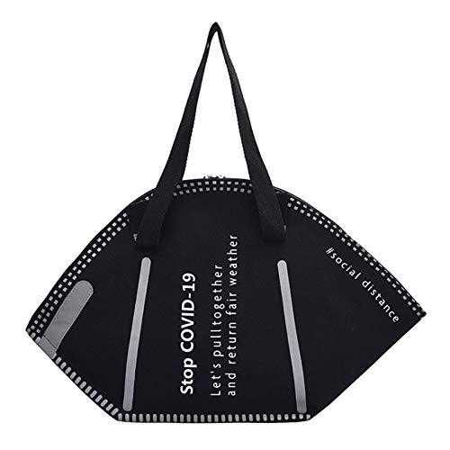 Mask Style Handtasche - Large Capacity Handtaschen Casual Women Canvas Einkaufstaschen Creative Mask...