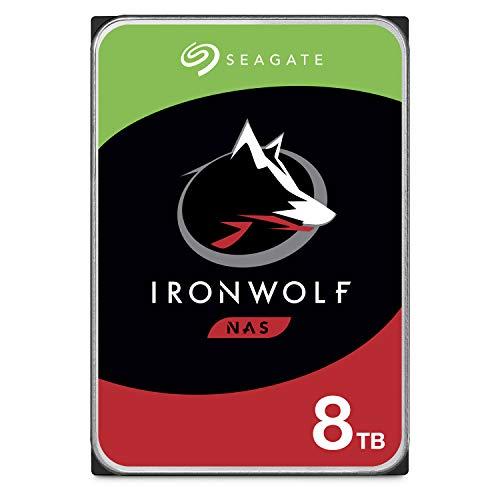 Seagate Ironwolf da 8 TB Unit SATA da 6 Gbit/s, HDD, CMR 3.5' 7200 giri/min, Cache da 256 MB per NAS...