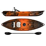 Vibe Kayaks Skipjack 90 9 Foot Angler and Recreational Sit On Top Light Weight Fishing Kayak (Wildfire) with Paddle and Seat