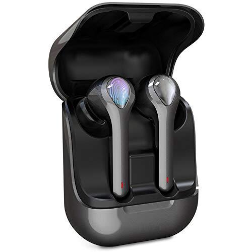Écouteur Bluetooth, Donerton IPX7 Écouteurs sans Fil Bluetooth 5.0 avec Réduction de Bruit avec Mic et Boîte de Charge, Stéréo 3D Oreillette Bluetooth avec Micro Intégré Contrôle Tactile et Écran LCD