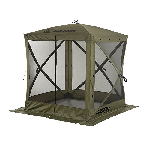 Quick Set 9870 Traveler Shelter, 72 x 72-Inch Portable Popup Gazebo Durable Tent Bug and Rain Protection Easy Setup (3-4 Person), Forest Green
