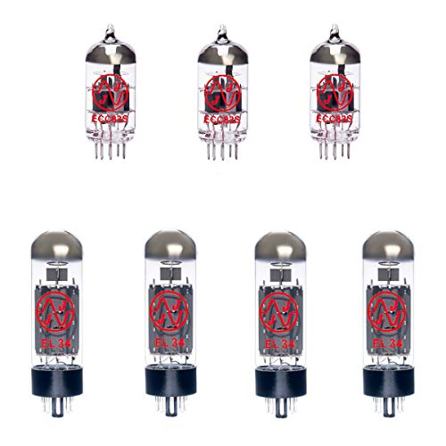 3x ECC83 and 4x EL34 Matched Guitar Amplifier Valve Kit 10