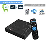 Android 9.0 TV Box, Smart Android TV BoxT95 Max 4GB RAM 32GB ROM H6 Quad-Core Cortex-A53 Mali-T720MP2 Media Player Support 6K H.265 100M LAN Internet 2.4GHz WiFi 3D Set Top Box with USB 3.0