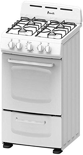 """Avanti GR020POW 20"""" Freestanding Gas Range Cooktop, White"""