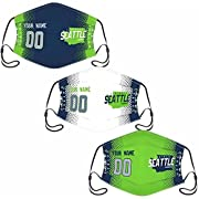 """Custom Football Personalized Seattle Face Bandana Is Easy! Click The """" Customize Now """" Button To Add A Note To Your Order Name And Number. The Processing Time Is About 2-4 Days To Prepare Your Order. Great Gifts For Football Fans! To Design A Unique ..."""