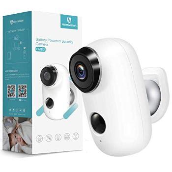 Caméra de Surveillance Batterie Rechargeable, HeimVision HMD2 Caméra IP WiFi Extérieure sans Fil IP65 Waterproof Détection de Mouvement 2 Way Audio Vision Nocturn Compatible avec Panneau Solaire