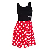 Disney Adult Junior Minnie Mouse Polka Dot Cosplay Dress Small