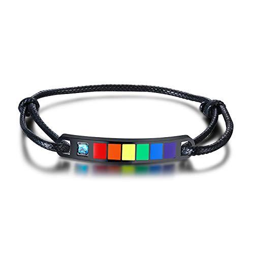 yfstyle Rainbow Pride Bracelet for Gay & Lesbian Adjustable...