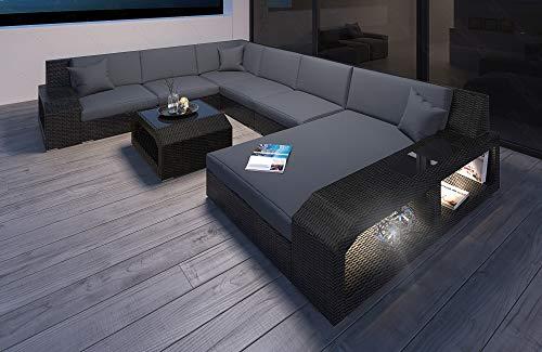 Sofa Dreams Moderno Rattan Divano Matera Come Designer a Forma di U Interni Casa XXL
