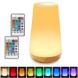 Taipow Veilleuse LED, Lampe de Chevet Multicolore à 360°, Lampe Nuit Rechargeable...