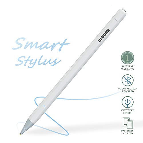 CLCCON Stylus Pen for Apple iPad & iPhone, Stylus Capacitive Rechargeable Pen for iPad Air 2,3 iPad Mini 3,4,5 iPad 3 iPad 2018,2019 iPad Pro1,Pro 2 and Later iPhone 6,7,8 and etc White