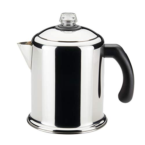 Farberware 50124 Classic Yosemite Stainless Steel Coffee Percolator - 8 Cup, Silver