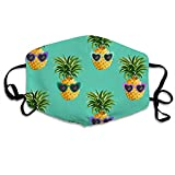Pineapple fun glasses Dust And Dirt Proof Windshield Face Decoration For Men And Women With Adjustable Elastic Bands