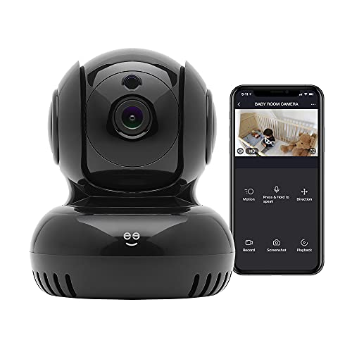Geeni Sentinel 1080p HD Pan & Tilt Baby Security Smart Camera, Indoor Camera for Home Security, No Hub Required, Smart Camera Works with Amazon Alexa & Google Home, Requires 2.4 GHz Wi-Fi