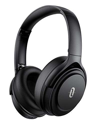 TaoTronics Auriculares Diadema Bluetooth Sonido Hi-Fi Batería de 40 Horas Auriculares con Cancelación de Ruido con Nuevo Qualcomm Chip Micrófono de CVC 8.0 Plegable Negro