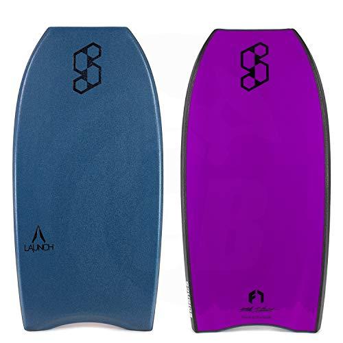 Mike Stewart Science Bodyboard Launch Flex 7 Polypropylene (Polypro) Crescent Tail 42 Inch - Deep Sea Green/Black/Violet