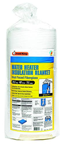 """Frost King SP57/11C All Season Water Heater Insulation Blanket, 3"""" Thick x 48"""" x 75"""", R10"""