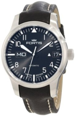 """Fortis Men's 700.10.81 L.01 F-43 """"Flieger"""" Black Leather Strap Automatic Watch"""