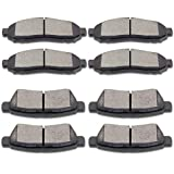 SCITOO Ceramic Brake Pad Front Rear Set fit for 2005-2018 for Nissan Frontier, 2005-2015 for Nissan Xterra, 2009-2012 for Suzuki Equator