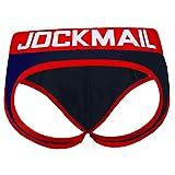 Jock Strap Jockstrap Slip push-up pour homme Rouge/bleu, Bleu/rouge, M