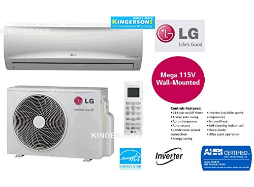 LG 9000 BTU SEER 17 Mega 115V Single Zone Heat and Cool Mini Split Wall-Mount Split air Conditioning Systems
