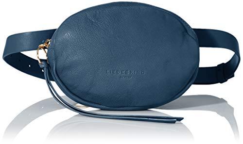 Liebeskind Berlin Damen Dive 2-Belt Bag Umhängetasche, Blau (China Blue), 3x14x20 cm