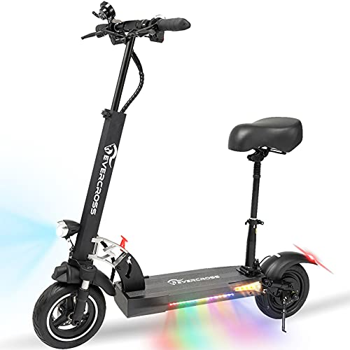 EverCross Electric Scooter, Electric Scooter for Adults with 800W Motor, Up to 28MPH & 25 Miles,...