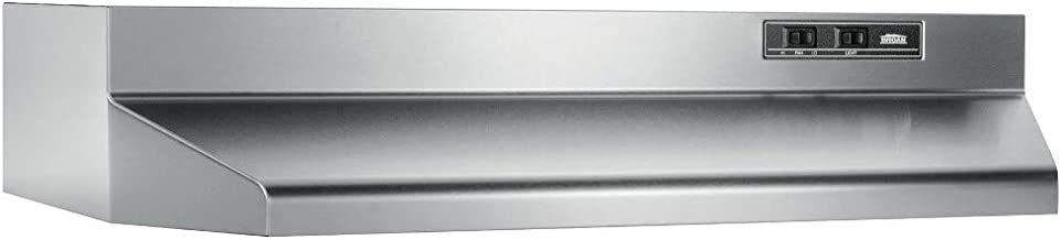 Broan-NuTone 403004 Convertible Range Hood Insert with Light, Exhaust Fan for Under..