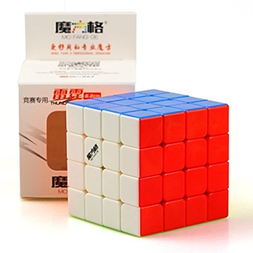 Cuberspeed QiYi Thunderclap 4x4 stickerless Speed Cube Mofangge Thunderclap...