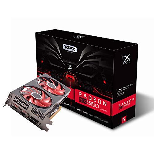 XFX Radeon RX 550 - Tarjeta gráfica DDR5 de Doble disipación (4 GB,...