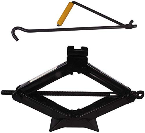 MAMMOTH Scissor Jack [1 .5]Ton Car Jack Set for scissor Jack with lifting rod all hatchback & Sedan (Capacity 1500kg) Black Colour