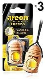 AREON Fresco Désodorisant Voiture Liquide Vanille Noir Bouteille en Bois Flacon...