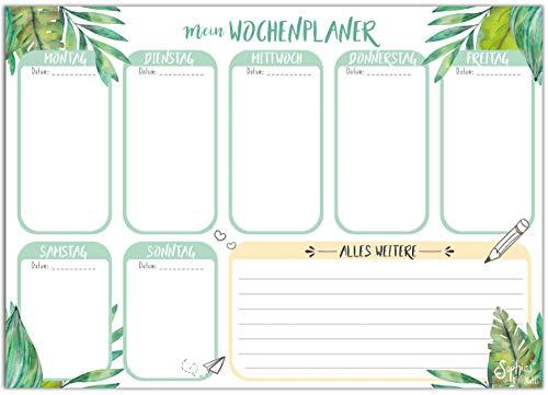 Wochenplaner mit praktischer Wochenübersicht im DIN A5 Format - Block mit 50 Blättern und praktischer To Do Liste - von Sophies Kartenwelt