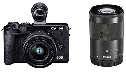 Canon キヤノン ミラーレス一眼 EOSM6 mark2 ダブルズームEVFキット ブラック