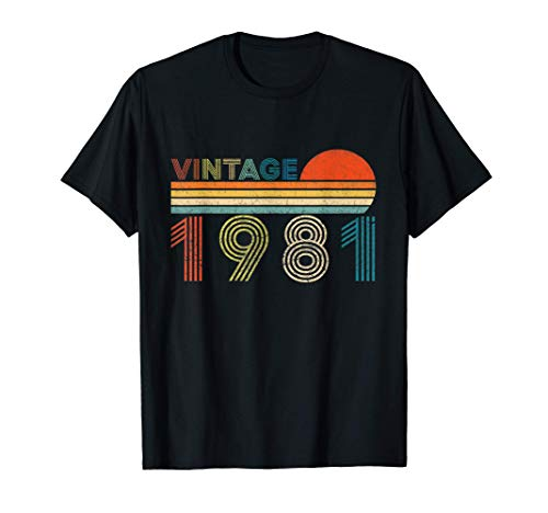 Vintage 1981 Regalo Original Hombre 40 Años Cumpleaños Muj