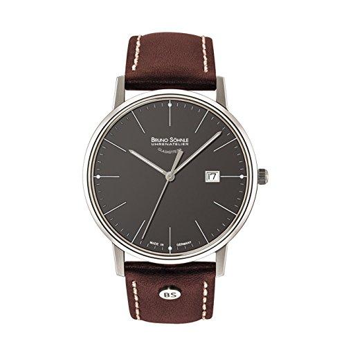 Bruno Söhnle Herren Analog Quarz Uhr mit Leder Armband 17-13175-841