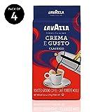 Lavazza Crema e Gusto Ground Coffee Blend, Espresso Dark Roast, 8.8 Oz Bags (Pack of 4)