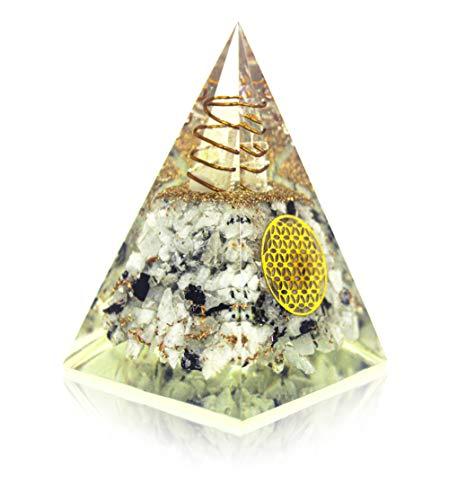 Moonstone Orgone Pyramid - Flower Of Life Crystal Stones...