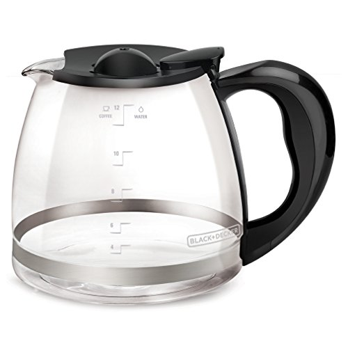 BLACK+DECKER 12-Cup Replacement Carafe with Duralife Construction, Glass, GC3000B