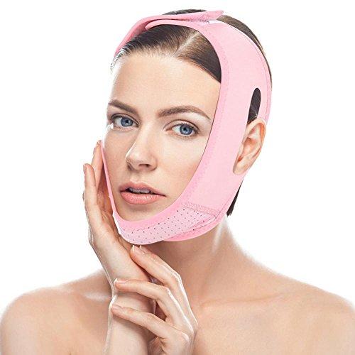 Tmishion Maschera dimagrante viso per la cura del viso a doppio mento