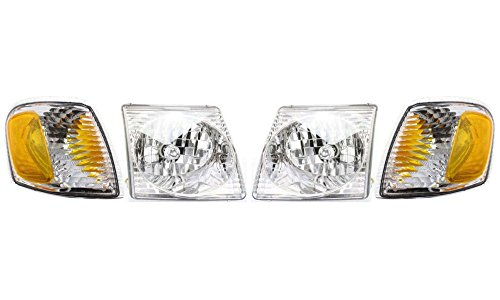 Headlight and Corner Light Kit for 2001-2005 Ford Explorer Sport Trac Left and Right Side