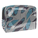 Bolsa de maquillaje portátil con cremallera bolsa de aseo de viaje para las mujeres práctico almacenamiento cosmético bolsa de luz aleteo plumas