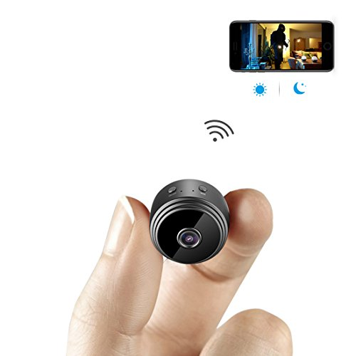 Mini Microcamere Spia AOBO 1080P HD Bottone Nascosta Telecamera WiFi IP Wireless Rilevamento di Movimento Portatile Videocamera di Sorveglianza Video Registrazione in Loop per iPhone Android